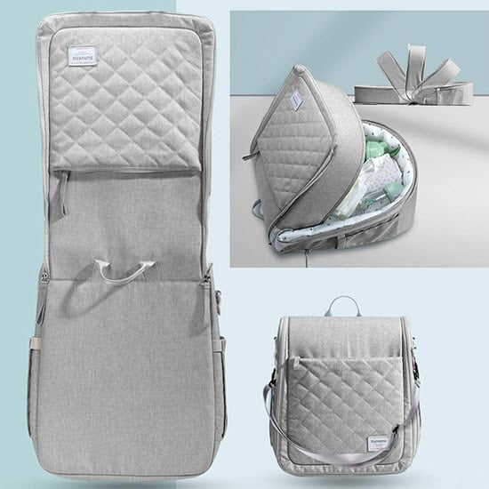 how to convert SUNVENO Infant Travel bassinet into diaper bag