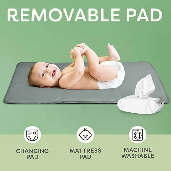 napper pad of the Scuddles 3-1 Portable Bassinet for Baby