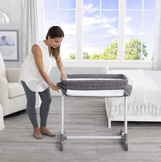 removing fabric from Simmons Kids By The Bed City Sleeper Bassinet